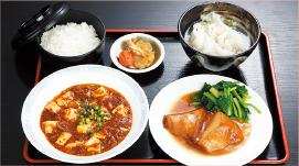 ③豚角煮・四川マーボ豆腐・水餃子セット