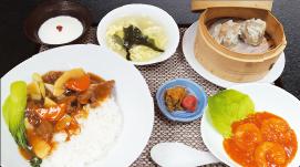 牛ヒレ肉のあん掛けご飯セット